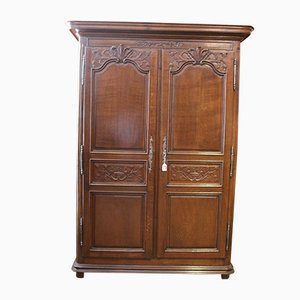 18th Century Louis XIV French Oak Wardrobe