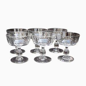 Bicchieri da champagne modello Côtes vintage in cristallo, set di 6