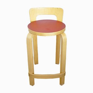 Finnish Model K65 Bar Stool by Alvar Aalto for Artek, 1970s