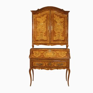 Louis XV Style Italian Trumeau Inlaid Cabinet, 1960s