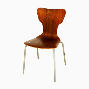 Swedish Teak and Metal Dining Chair, 1960s
