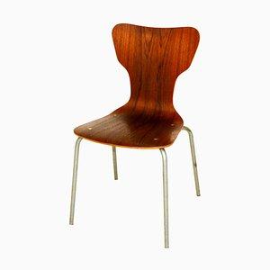 Swedish Teak and Metal Dining Chair, 1960s
