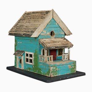 Vintage American Folk Art Garden Birdhouse, 1950s