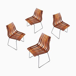 Skandia Palissander Dining Chairs by Hans Brattrud for Hove Møbler, 1960s, Set of 4