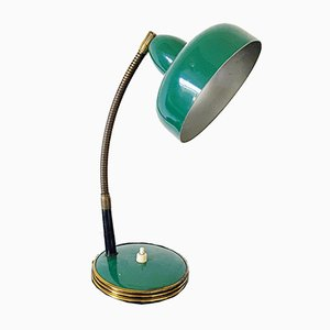 Italian Green Table Lamp, 1950s
