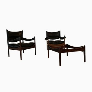 Rosewood Armchairs and Side Table Set by Kristian Vedel for Søren Willadsen Møbelfabrik, 1960s