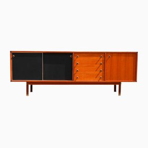 Italian Solid Teak and Black Laminate Sideboard from Stildomus, 1960s