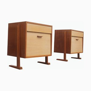 Bicolor Formica Chest of Drawers, 1950s, Set of 2