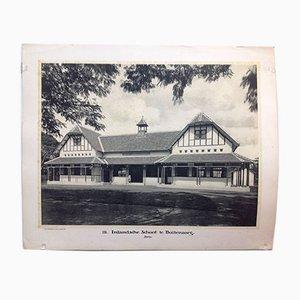 Stampa East Indies bianca e nera di Jean Demmeni per Kleynenberg & Co., Haarlem, 1913