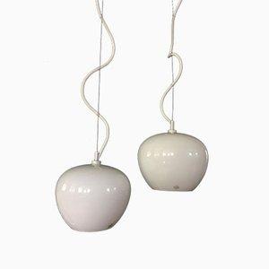 Small Vintage Danish Organics Model Pendant Lamps from Holmegaard, 1990s, Set of 2