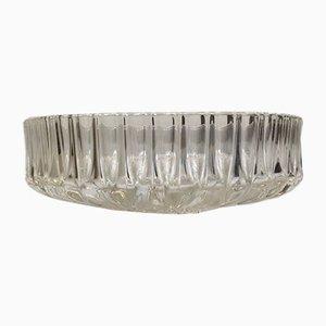 Französische Vintage Kristall Schale, 1950er