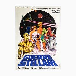 Großer Italienischer Star Wars Film Filmplakat von Michelangelo Papuzza, 1977