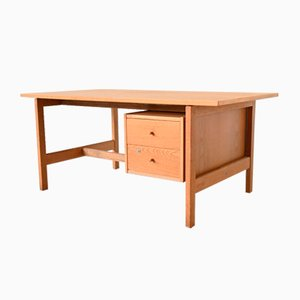 Danish Oak Model GE 125 Desk by Hans J. Wegner for Getama, 1970s