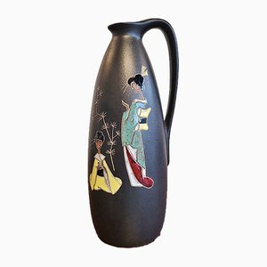 Nr. 314/2 Ceramic Vase with Japan Decor from Ruscha, 1960s