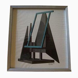 Blå Bevægelse Poster by Robert Jacobsen, 1983