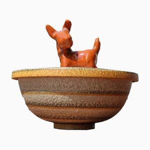 Scatola Futurist in ceramica smaltata di Cima, anni '30