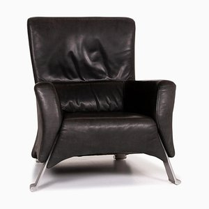 Anthracite Grey Leather 322 Armchair from Rolf Benz
