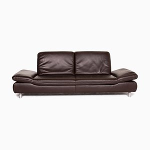 Dark Brown Leather Rivoli 3-Seat Function Sofa from Koinor