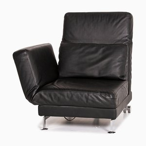 Black Leather Moule Relax & Sleep Function Lounger by Roland Meyer-Brühl for Brühl & Sippold