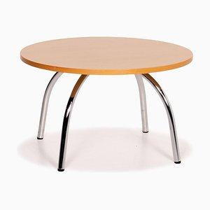 Tavolino da caffè rotondo in legno di Walter Knoll