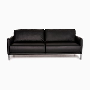 Black Leather Cara 3-Seat Sofa from Rolf Benz