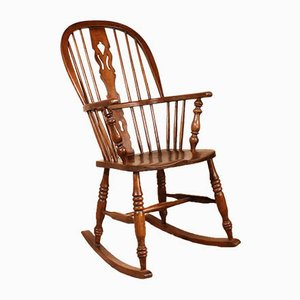 19th Century English Oak Rocking Chair