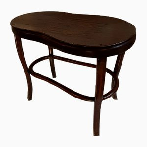 Vintage Ebonized Oak Stool, 1919