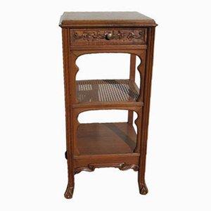 Vintage Art Nouveau Walnut Console Table