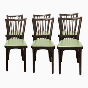Model 153G1 Bistro Chairs from Baumann, 1960s, Set of 6