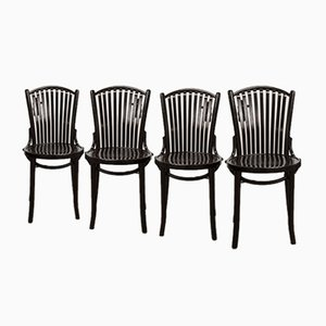 Bistro Chairs from Baumann, 1980s, Set of 4