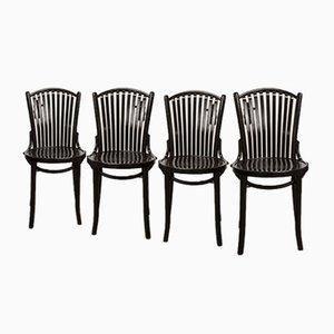 Bistro Stühle von Baumann, 1980er, 4er Set
