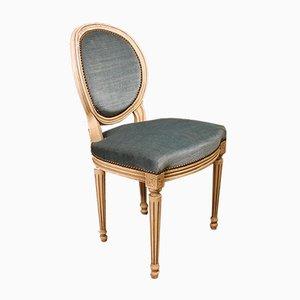 Antike Mehrfarbige Louis XVI Esszimmerstühle, 8er Set