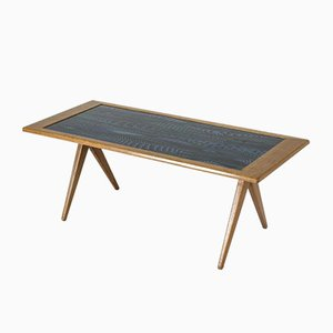 Mid-Century Enamel Coffee Table by Stig Lindberg for Nordiska Kompaniet