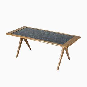 Table Basse Mid-Century en Émail par Stig Lindberg pour Nordiska Kompaniet