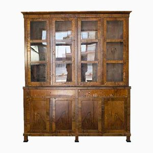 Vintage Wood and Glass Display Cabinet, 1930s