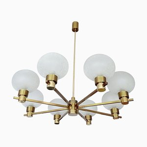 Mid-Century Brass and Bubble Glass Pendant Lamp from Kaiser Idell / Kaiser Leuchten, 1960s