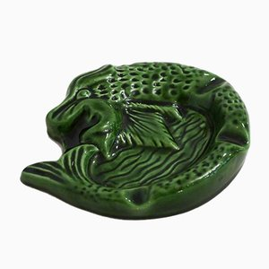 Mid-Century French Dragon Ashtray from Mazedier Céramiste