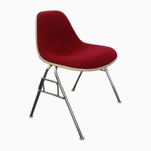 Poltrone Mid-Century rosse di Charles & Ray Eames per Vitra, set di 4