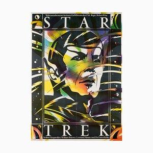 German Star Trek Film Poster by Schulz Ilabowski, 1980s
