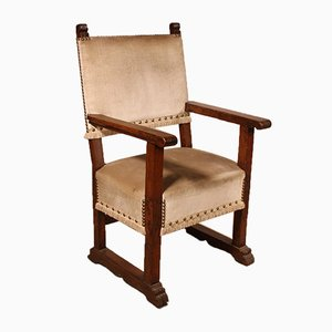 17th Century Spanish Walnut Armchair