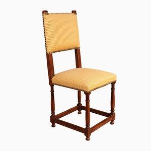 Chaises de Salon Style Louis XIII Antique en Noyer, Set de 8