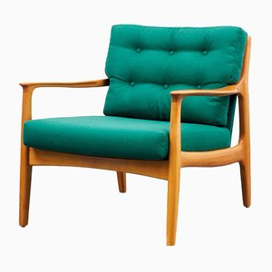 Cherry Wood Armchair, 1960s