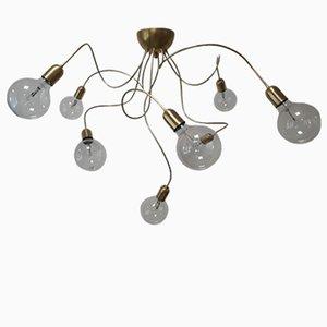 Anpassbare Vintage Deckenlampe aus Messing mit 8 Leuchten