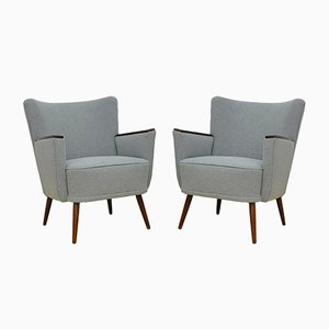 Mid-Century Cocktail Armchairs, Set of 2