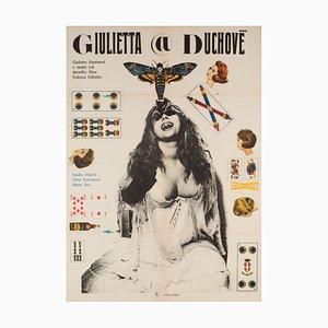 Poster del film Juliet of the Spirit, Cecoslovacchia, 1969, anni '50
