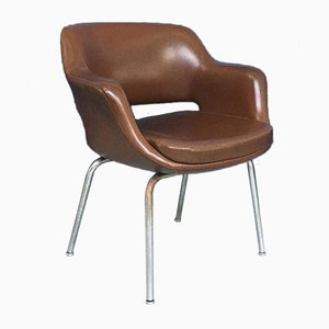 Mid-Century Italian Brown Leather Armchairs from Cassina, 1970s, Set of 2