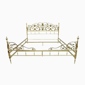 Mid-Century Neoclassical Style Italian Double Brass Daybed, 1960s