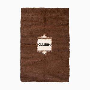 Handgeknüpfter türkischer Vintage Mohair Kilim Teppich, 1970er