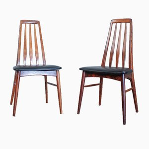 Rosewood Model Eva Dining Chairs by Niels Koefoed for Koefoeds Møbelfabrik, 1960s, Set of 4