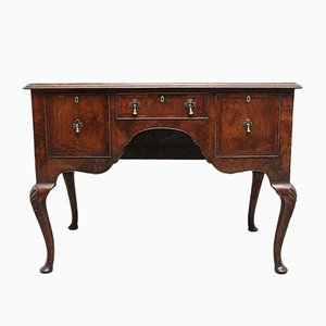 18th Century Walnut and Feather Banded Lowboy